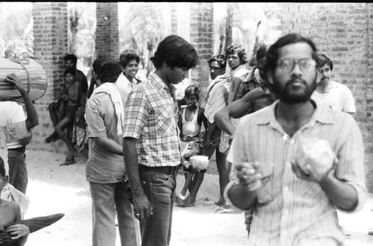 Thrivikramji ON A CESS tour to MUDBANK OFF AMBALAPUZHA - A FIELD CONFERENCE, 1980