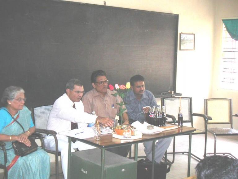 Thrivikramji & the NAAC team in Department of Geology. University of Kerala, 2002