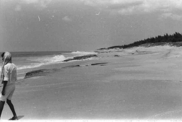 Beach rock, Kovalam,