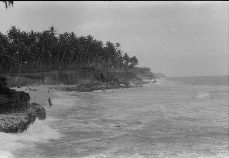 Edava, Kollam dist, coastal Geology- note coral patches
