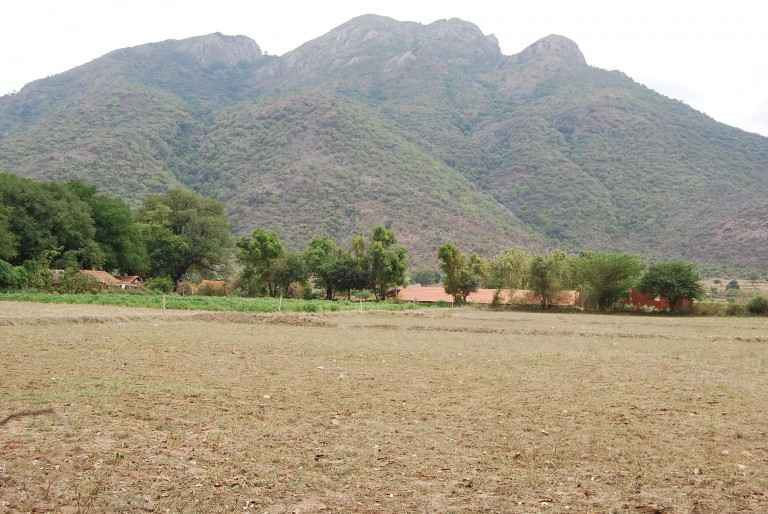 Closer up view of the foot hills and alluviam in t he foreground.