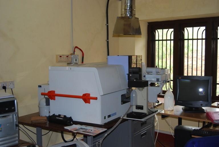 A lab in SACON, Coimbatore