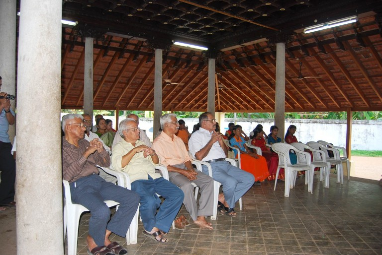 Keenly listening audience