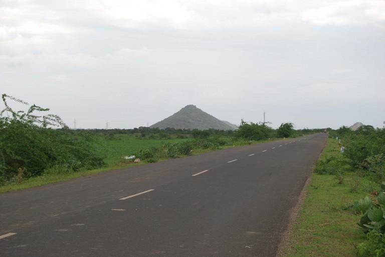 Looks like a volcanic cone?