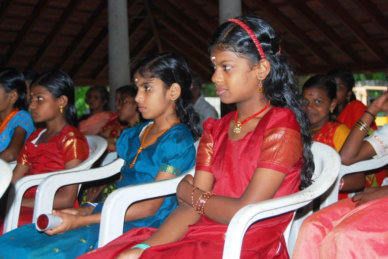 Young girls in the audience