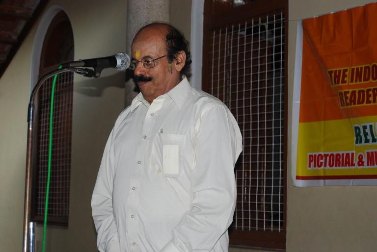 Dr. Sambasivan expressing thanks for the award.