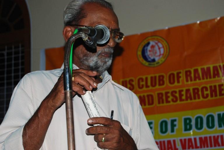 Sri Rajagopalan Nair presents vote of thanks