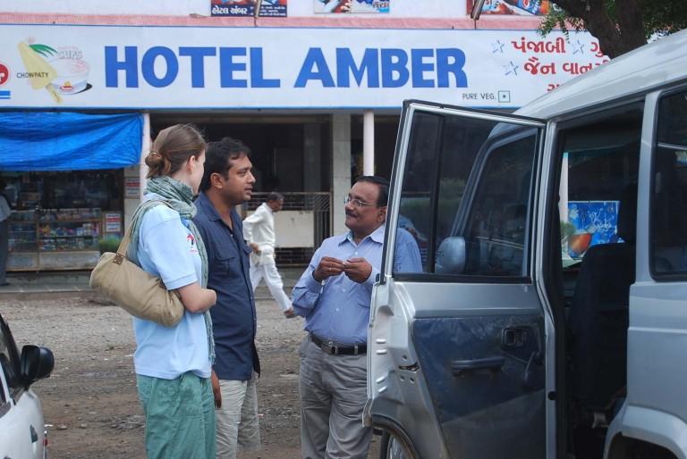 Thrivikramji on tour of duty to Tidal Flats of Gujarat
