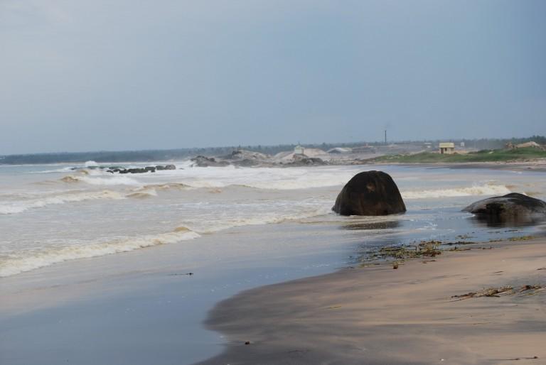 PAZHAYAR MOUTH TOWARD SEA.