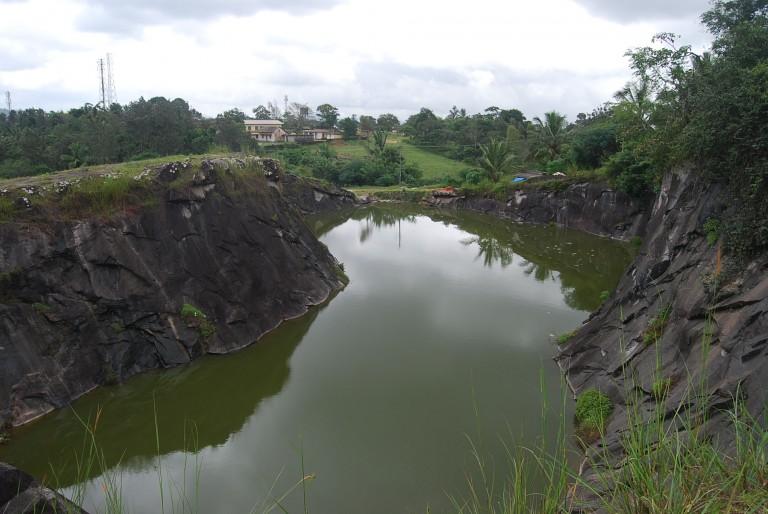 Flooded quarry, Wayanad