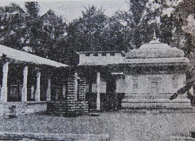 Siva Temple erected on the Samadi sthal