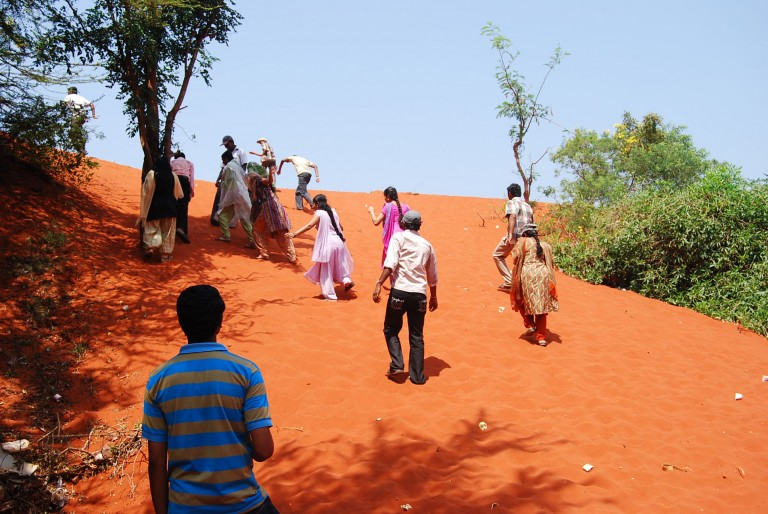Walking up the sandy slope is an ordeal especially after a long work day.