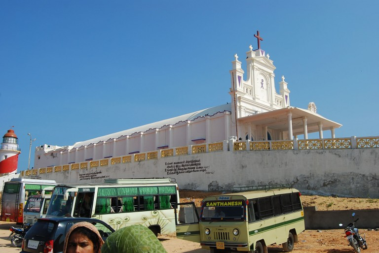 Shrine and parking on t he Manappad Hill.