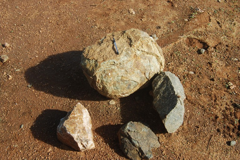 Local rock types