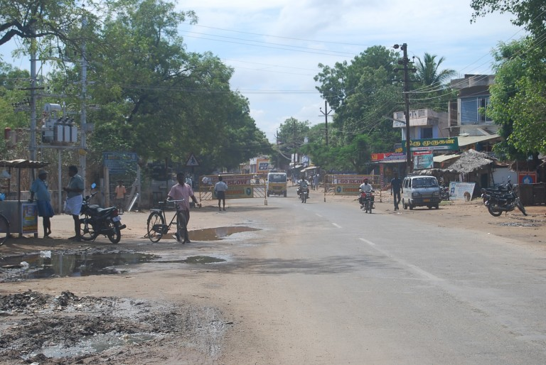 Deserted street at noon
