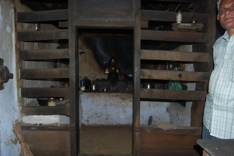 The Legendary Kitchen, which lost pots with cooked meat or fish, Cherukol Puthen Veedu, India Part of Sri Bhuvanendra Griham