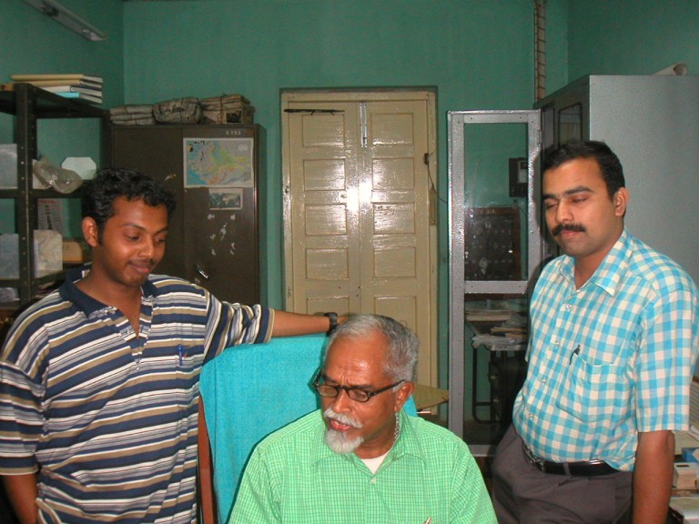Young man in Horizontal striped T-shirt is Mr.Praveen, now working for GSI as Scientist.