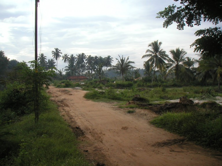 Road leading to the area of new Airport terminal Trivandrum