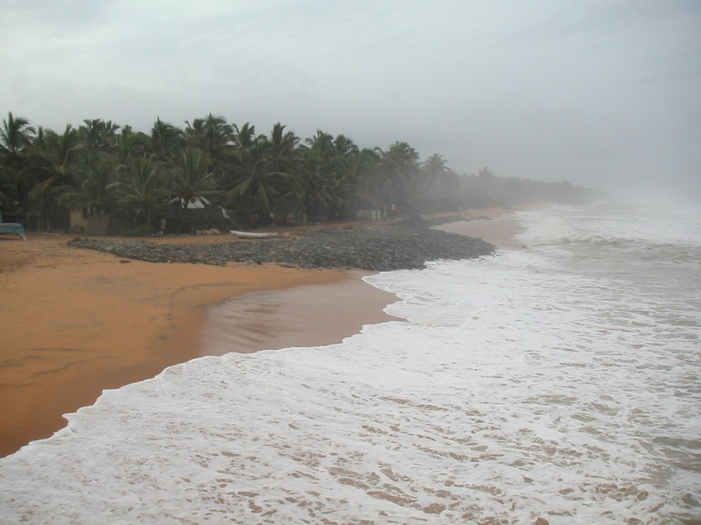 Closer view, southerly, Trivandrum Pier