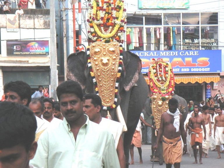 The elephant ride is by Padmanabha samy