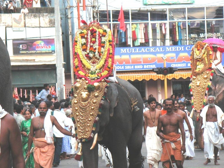 Several other dieties in the neigbouring temples also follow the Padmanabha samy to the arat