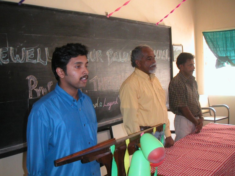 Mr Manu (currently with ONGC) a student of the graduating class, doing the invocation.