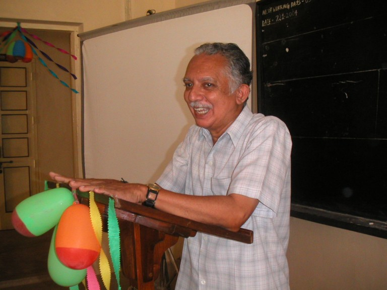 Narayan Nair doing his speech on the occassion