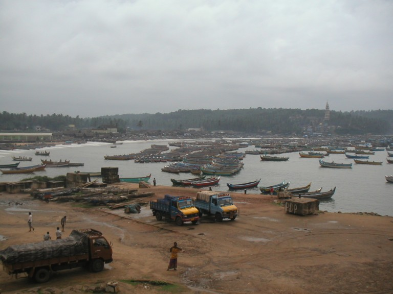 Calm water of Fishing Harbour, Vizhinjam