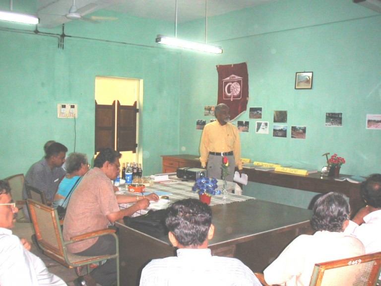 Thrivikramji presents the chronicle and achievements of the department