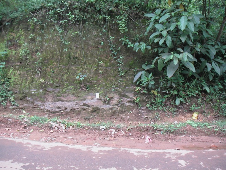 Note book placed on a Cross-bedded grit - Toward Madhupalam the basin deepens