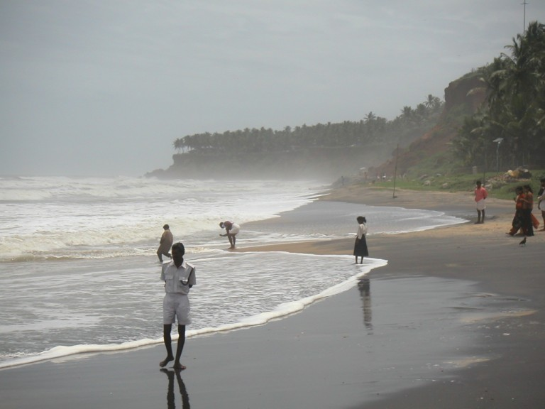 Northerly view of Red cliffs of Varkala