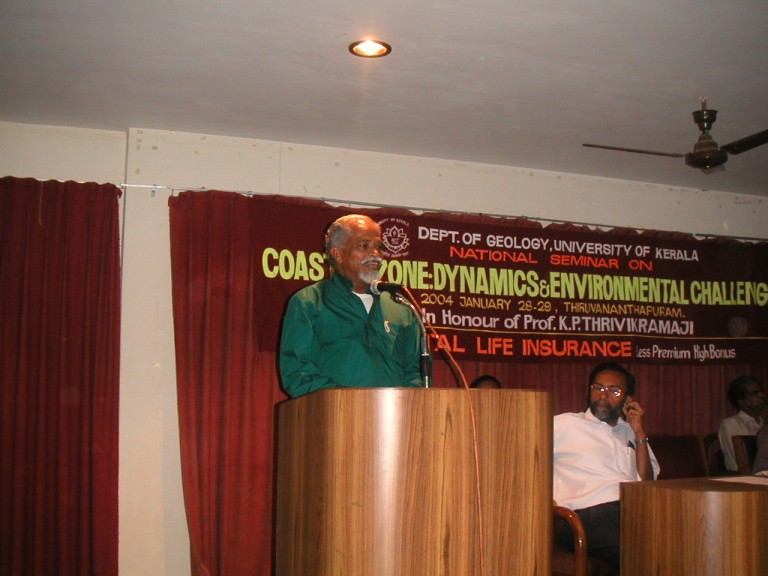 Dr Thrivikramji making remarks