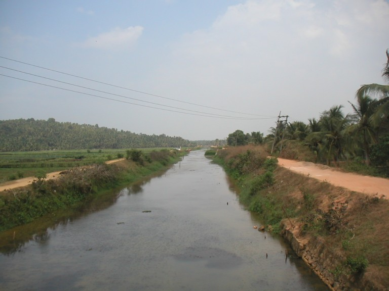 ANOTHER VIEW OF KANNALICHAL- - DRAINS INTO KARAMANA RIVER TO THE FAR  REAR OF THE CAMERA