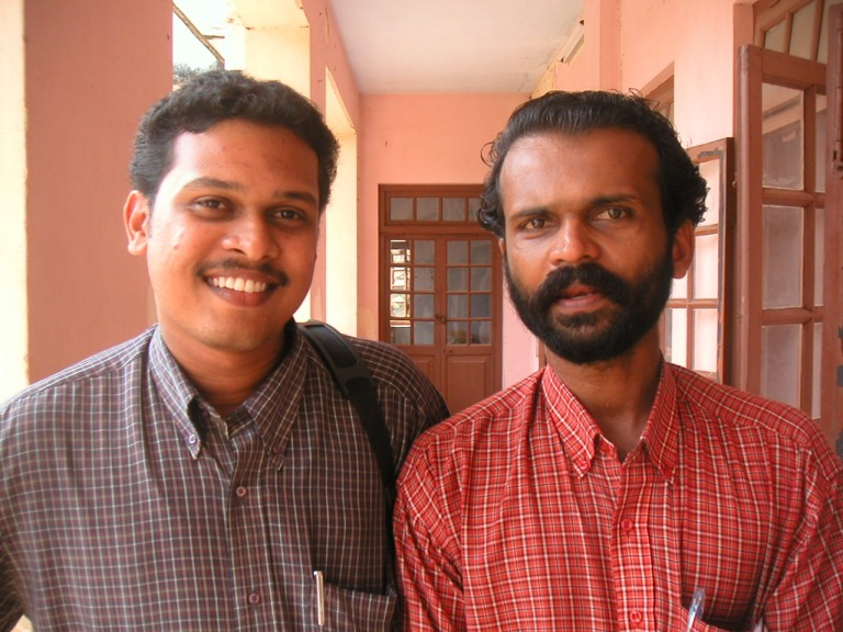 Dr Udayakumar with a friend