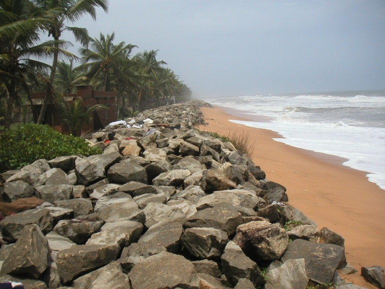 For local folks one use of sea wall is a substrate for drying their clothes.