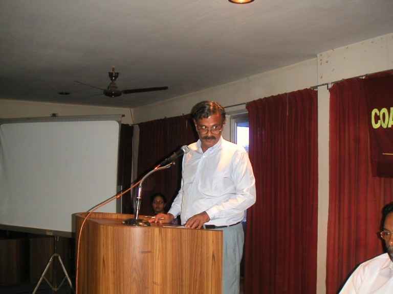 Dr Roy Chacko taliking