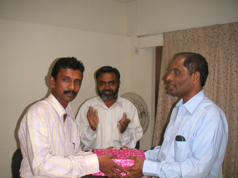 Now Krishnakumar gets his gift. This occurred in Trivandrum in circa 2008