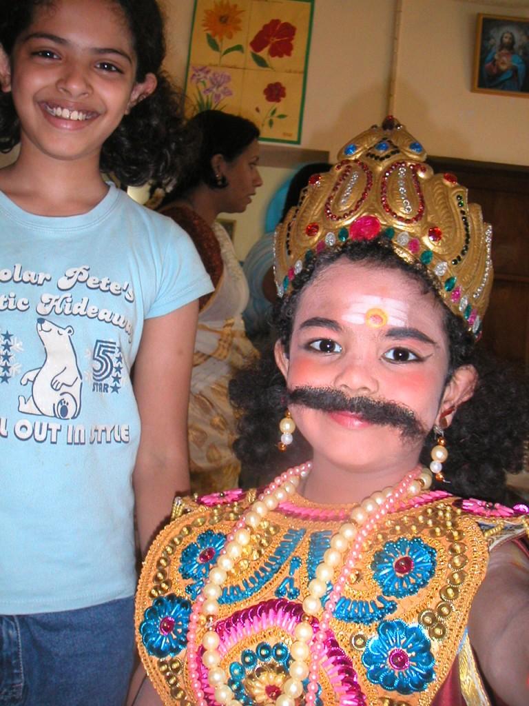 Nithu with Darsan as Maveli for a Onam