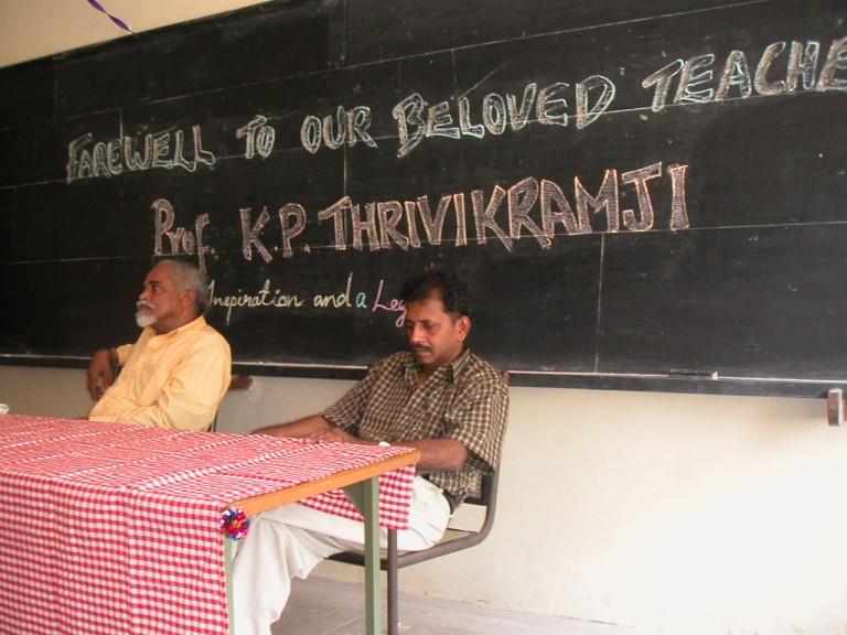 Thrivikramji & Anirudhan at the stage