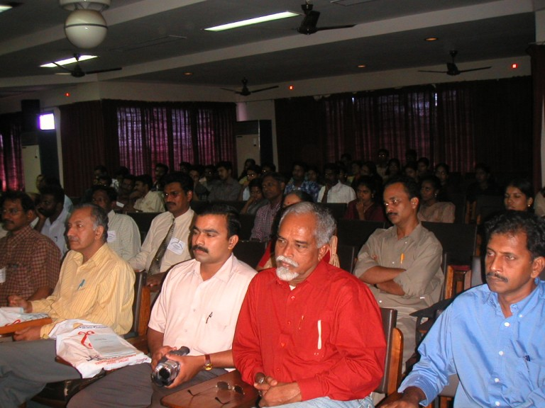 MM Nair, Rajan, Thrivikramji & Anirudhan in the audience