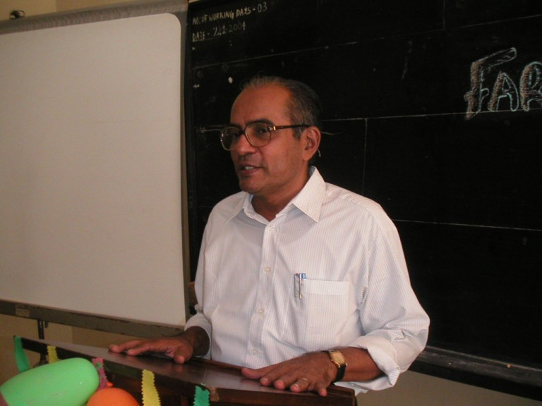 KP Sreedhar, a friend talking to the group