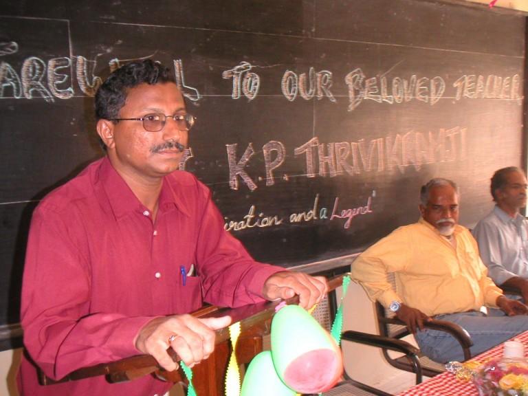 SN Kumar doing his turn.