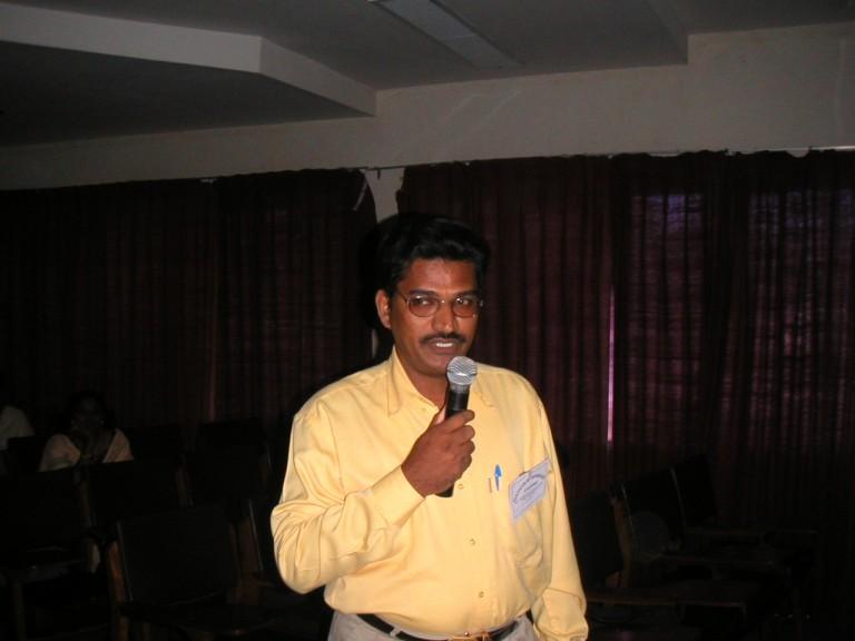 A scientist guest speaker